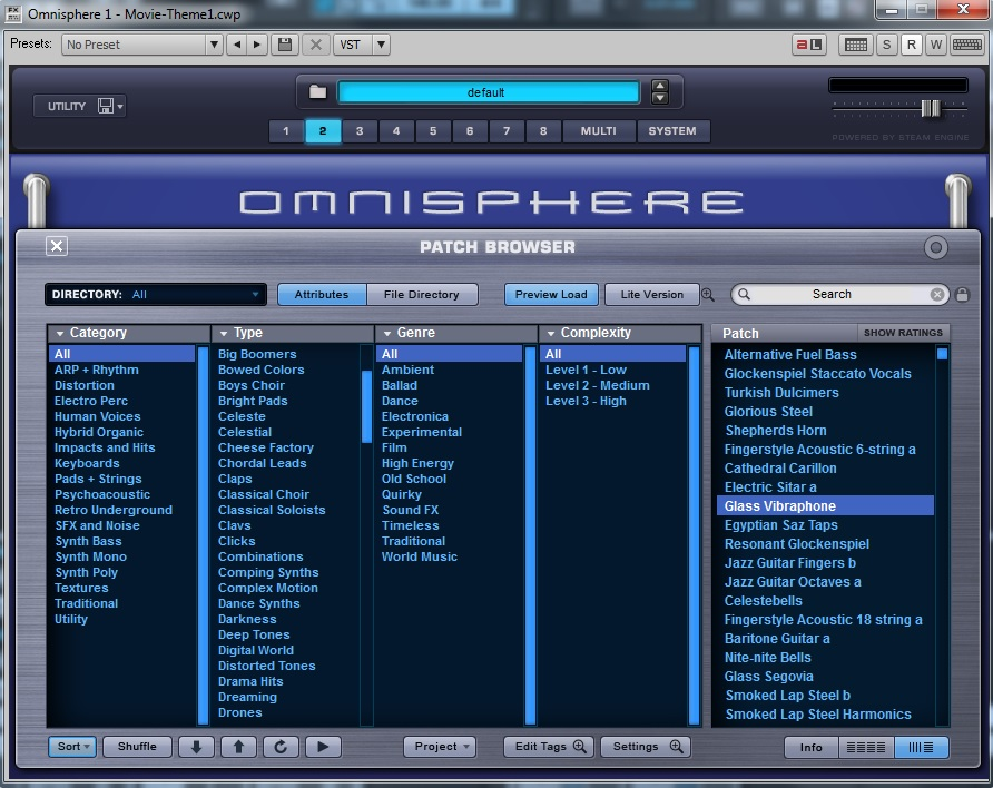 Spectrasonics Omnisphere - Patch Browser